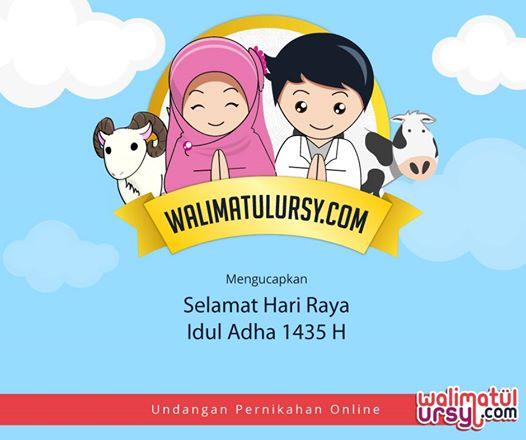 Ucapan Selamat Idul Adha Dari Walimatulursy.com