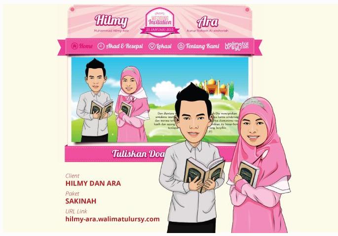 Desain Undangan Pernikahan Online  Undangan Pernikahan Online Walimatulursy