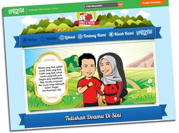 pilihan paket undangan pernikahan online